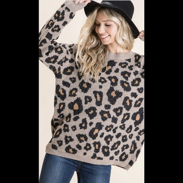 Trifecta Cheetah Print Sweater