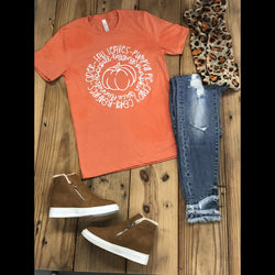 Fall Good Things Graphic Tee in Orange