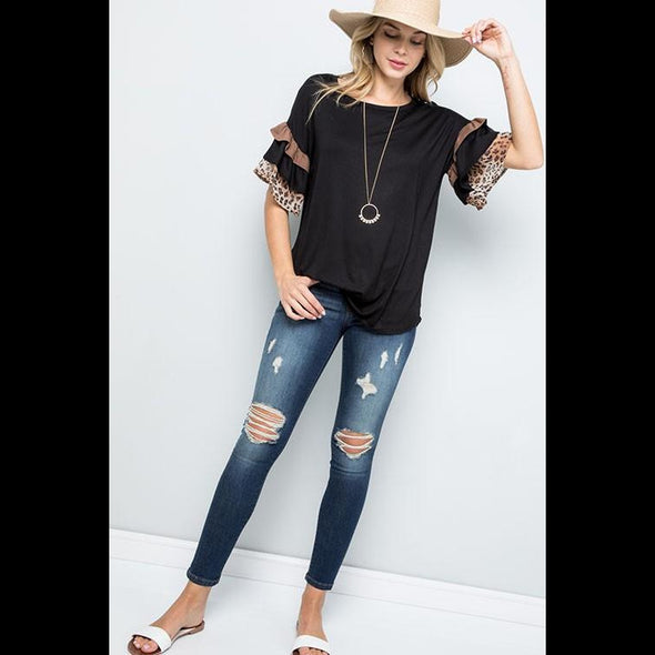Looking For Adventure Bell Sleeve Top