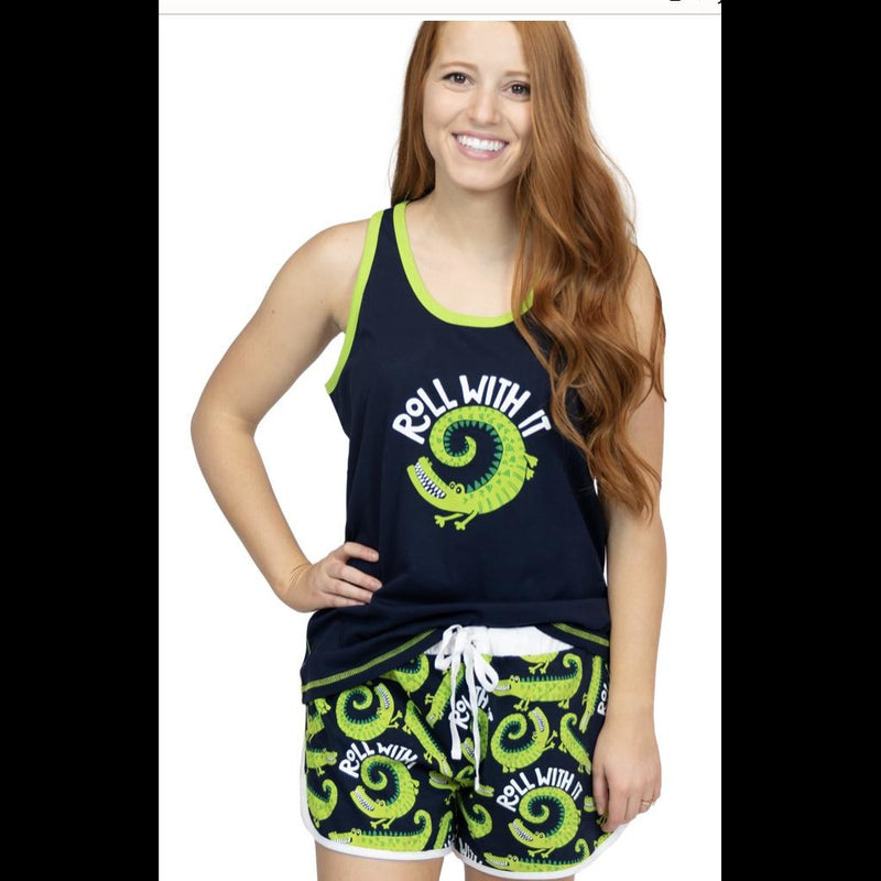Roll With It Women's Alligator Boxer/Tank Pajama Set