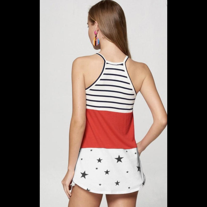 Stars and Stripe Forever Colorblock Top