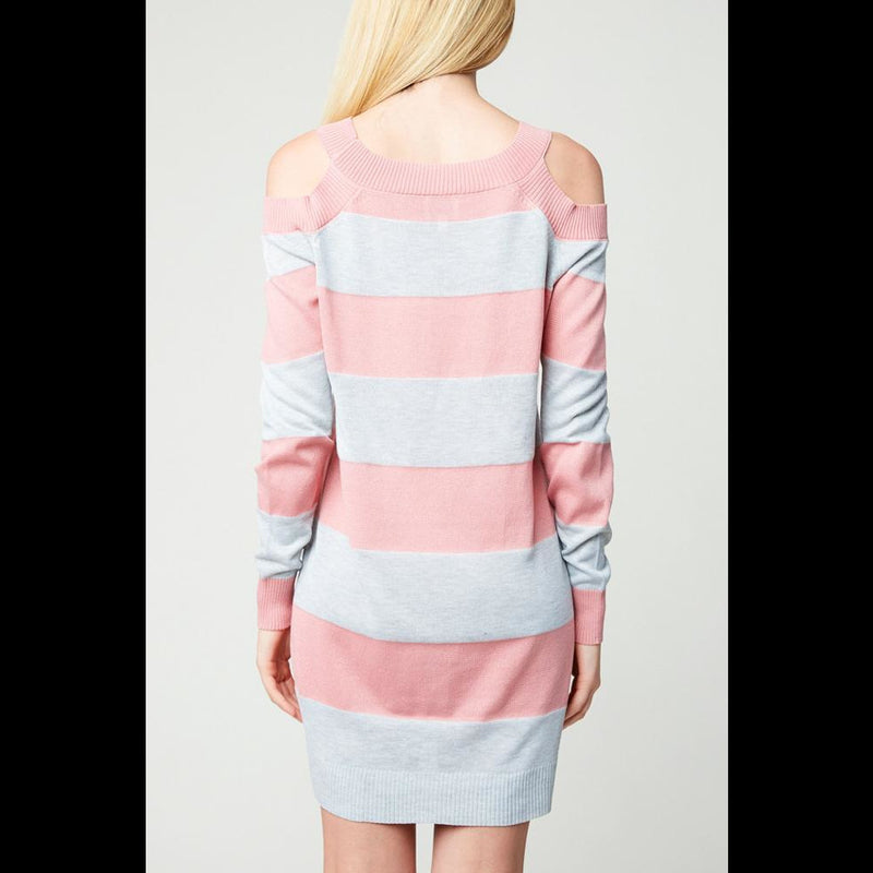 Cotton Candy Cold Shoulder Dress