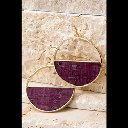 Heartland Dangle Hoop Earrings in Wine