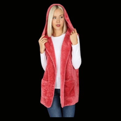 Lagniappe Hooded Faux Fur Vest