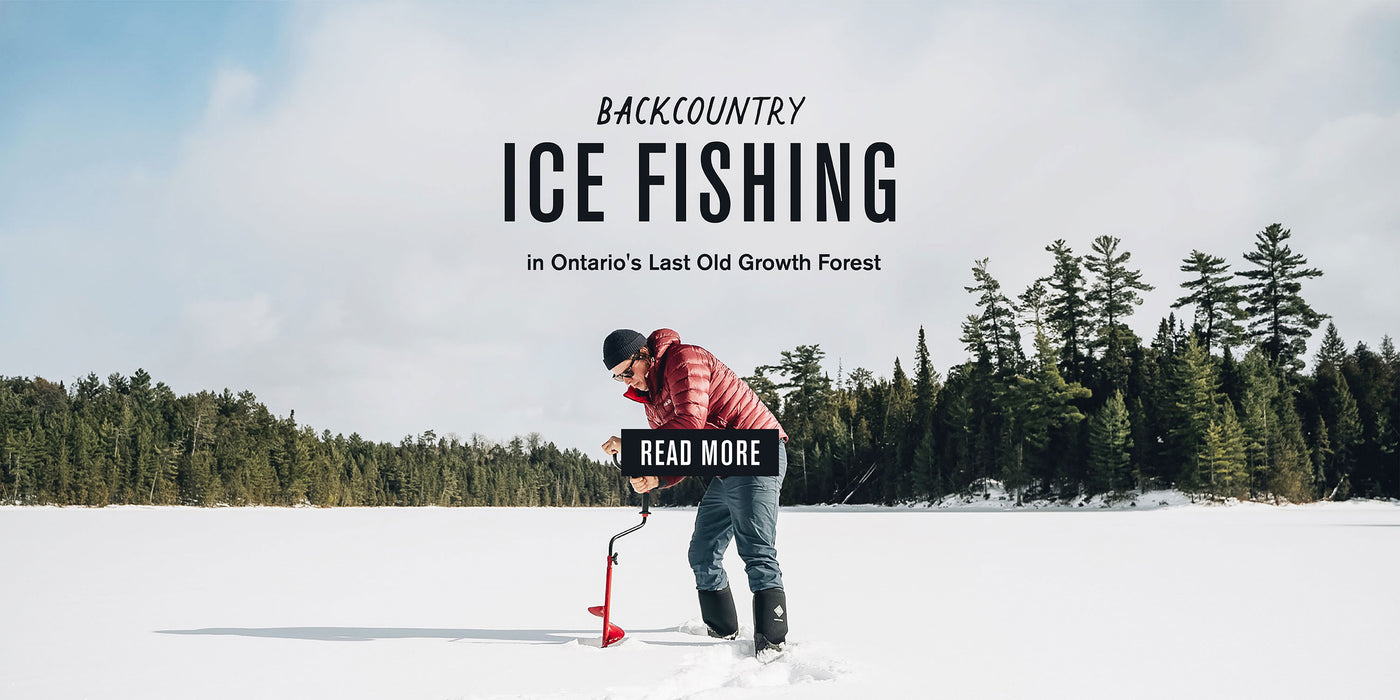 Backcountry Ice Fishing in Ontario's last old growth forest