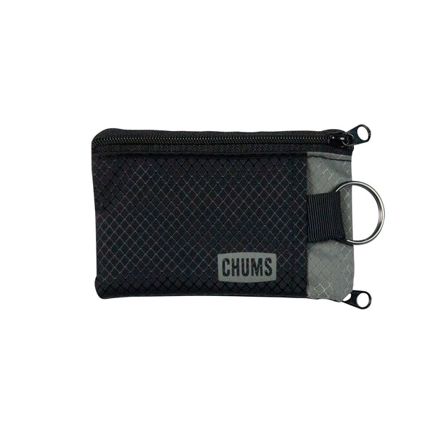 Black/Gray Surfshorts Wallet front
