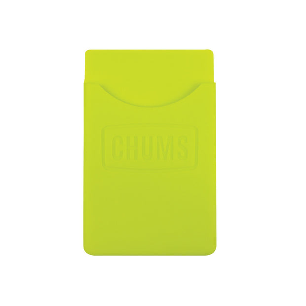 back of phone wallet keeper neon green