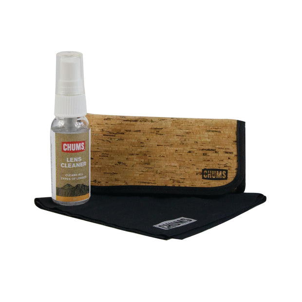 Eyewear cleaning kit cork
