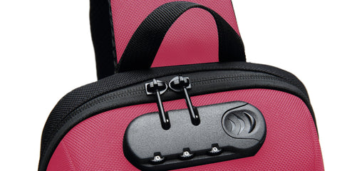 pink anti theft sling bag by frs