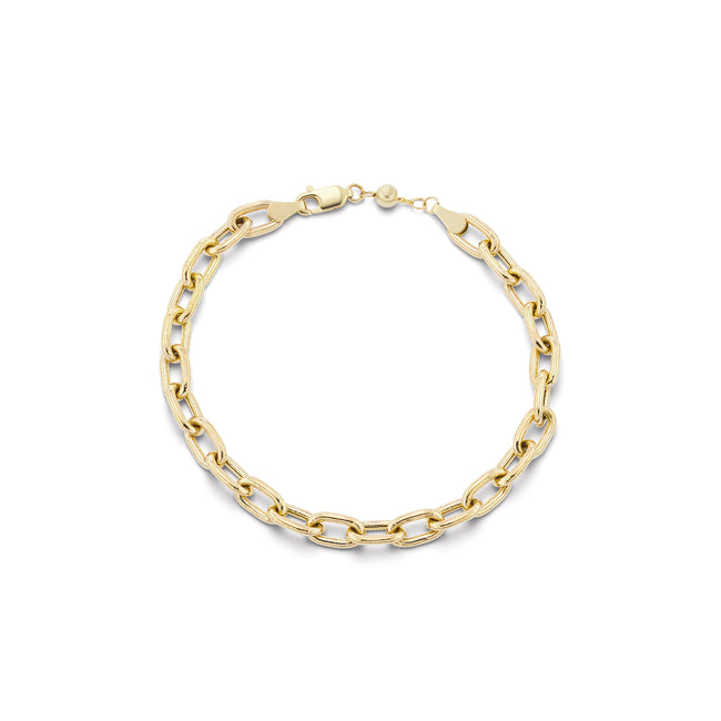 Thick Elongated Link Bracelet