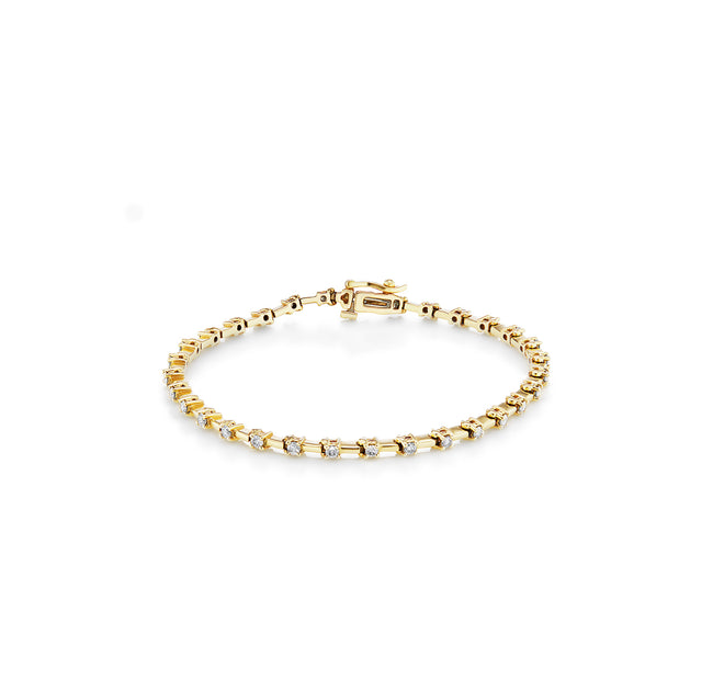 Diamond Link Tennis Bracelet