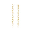 Elongated Chain Link Earrings Short