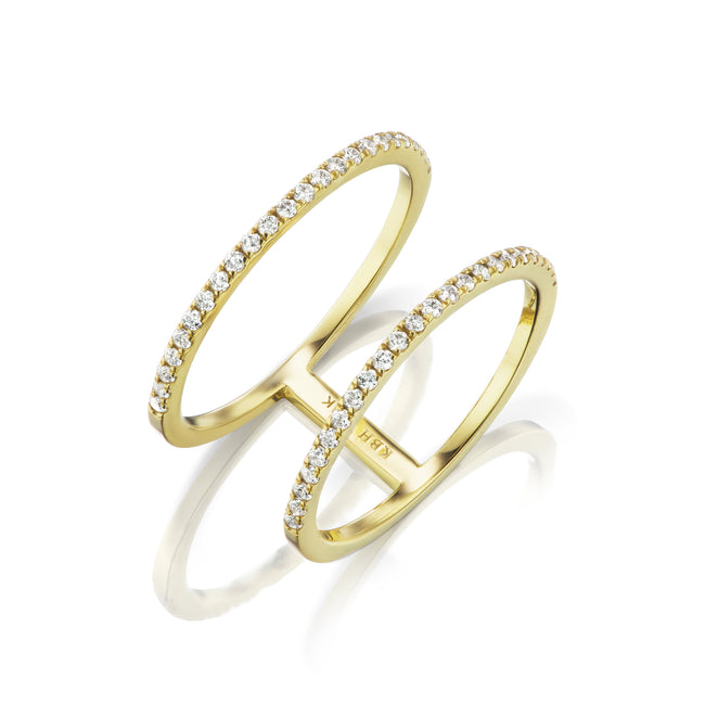 Diamond Double Stack Ring