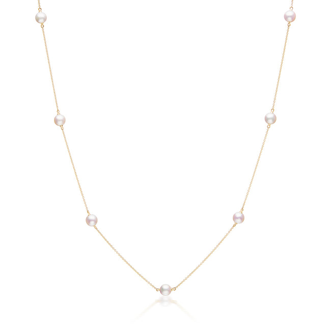 Akoya Pearl Station Necklace