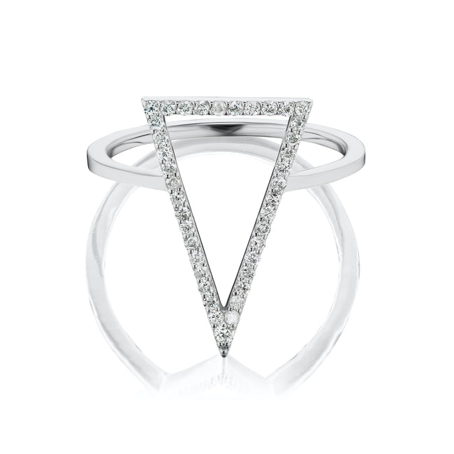 Diamond Arrow Ring