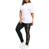 GOOPSS Leggings Black Side Lace Leggings