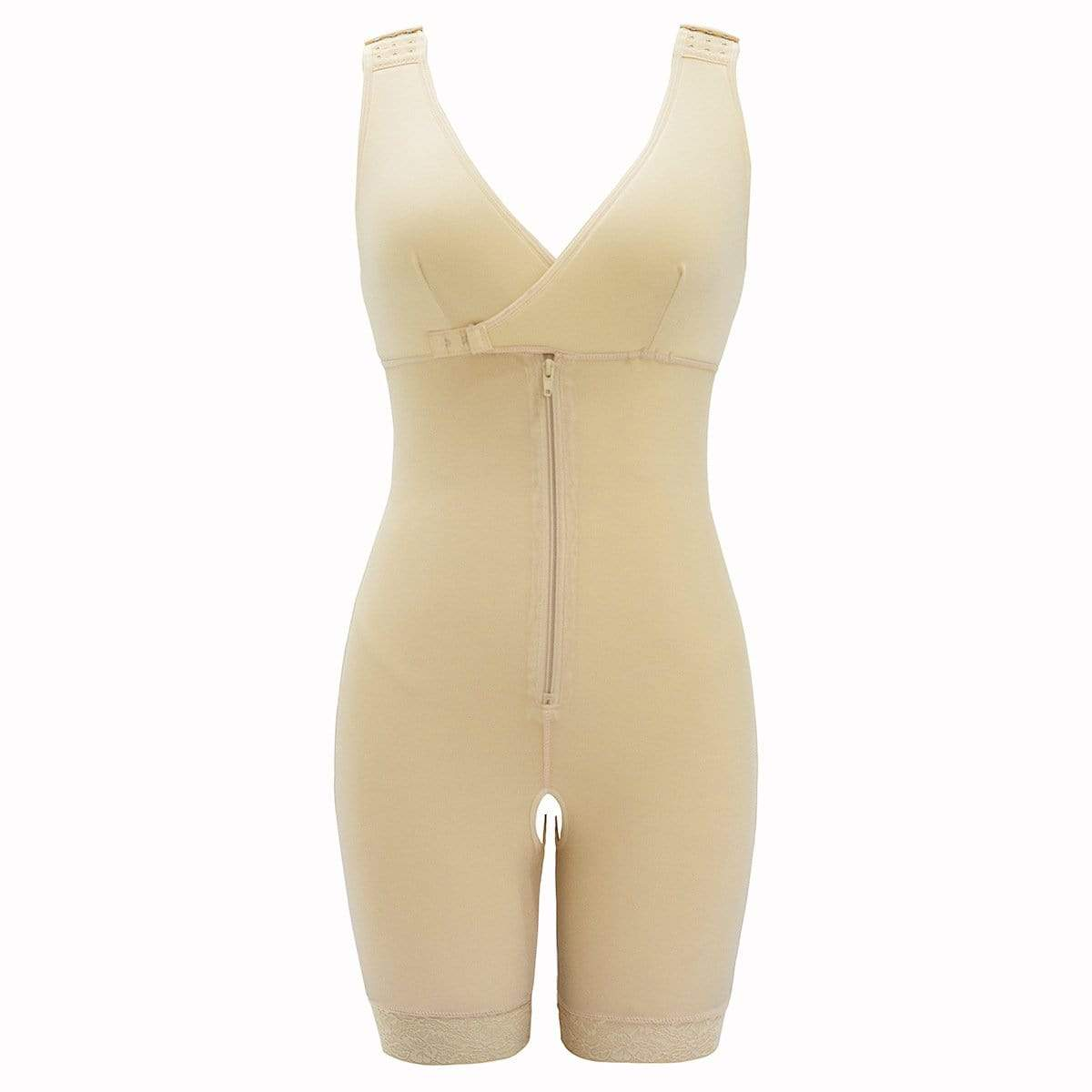 GOOPSS Shapewear White / 3XL One-piece waist-length hip shapers