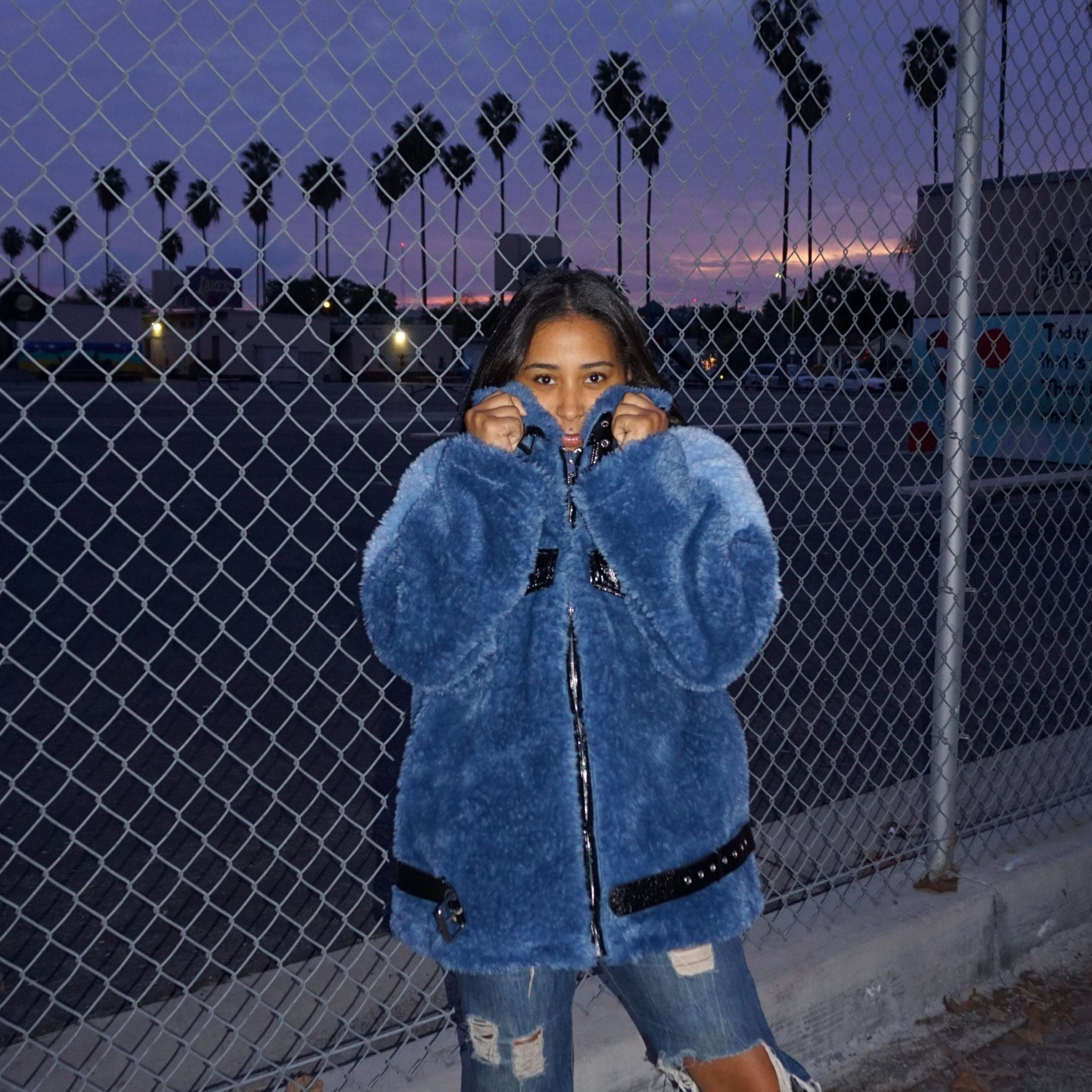 Blue Haze | Faux Fur Coat
