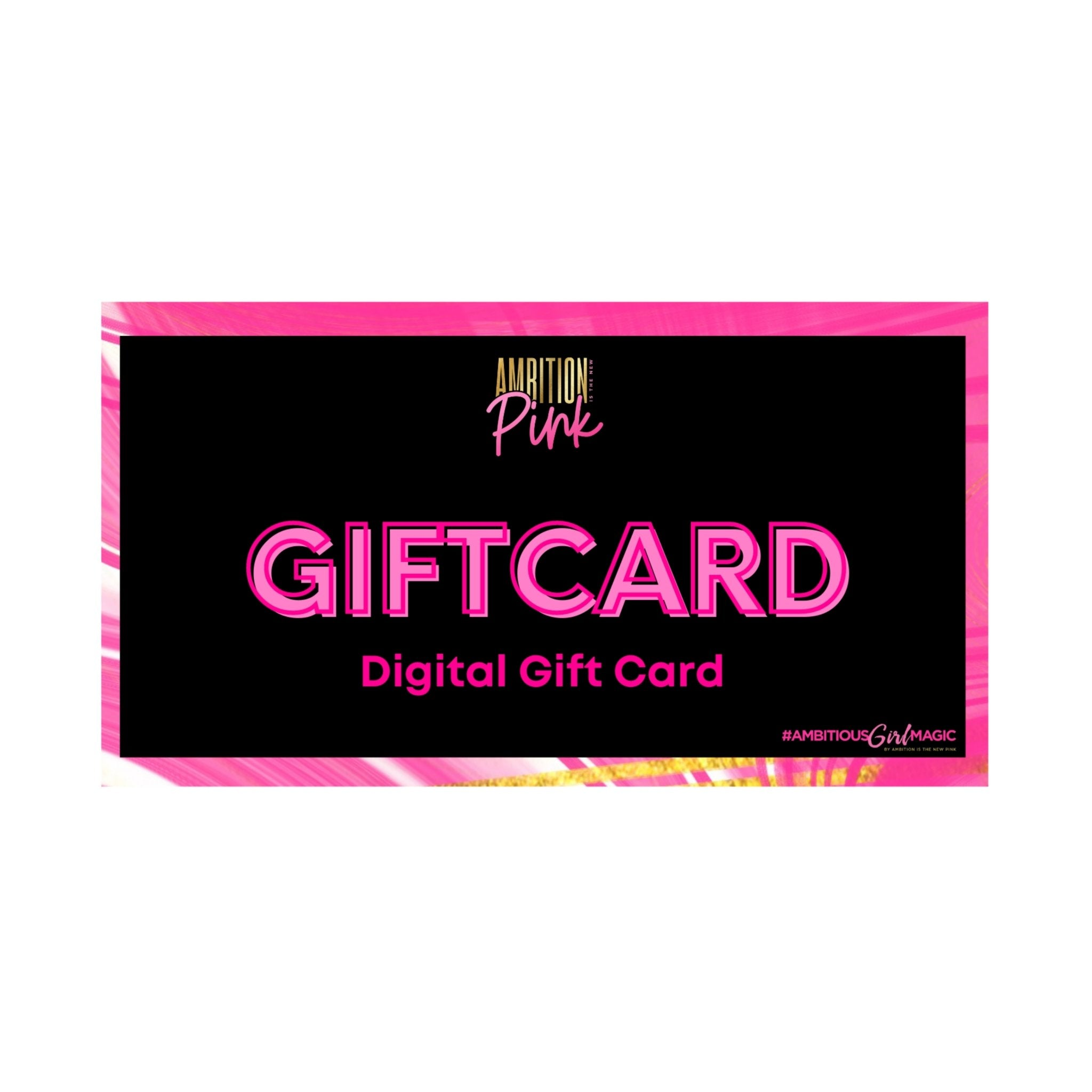 Ambition Is The New Pink Gift Card - Ambition Is The New Pink