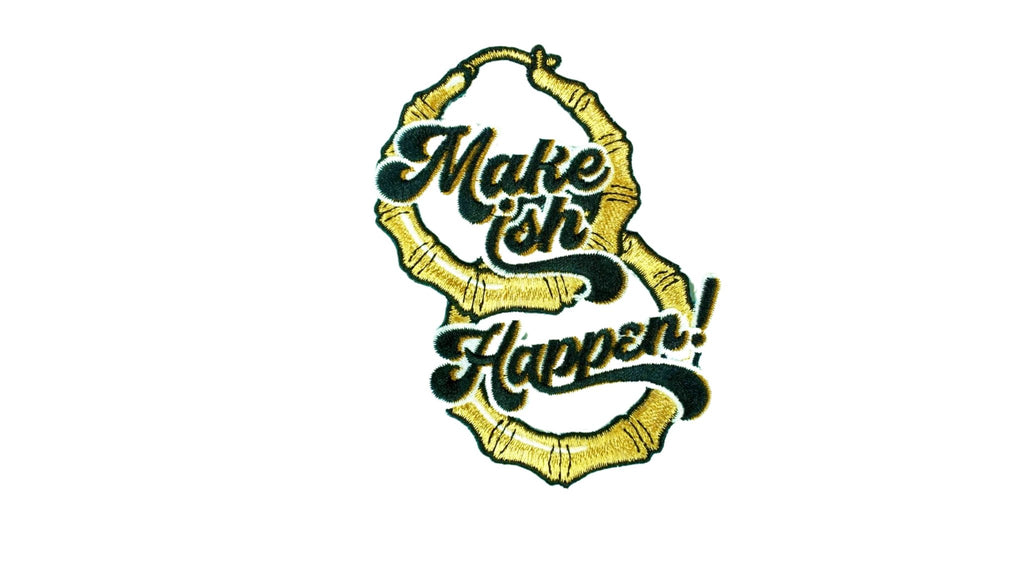Make ISH Happen Earrings - Patch - Ambition Is The New Pink
