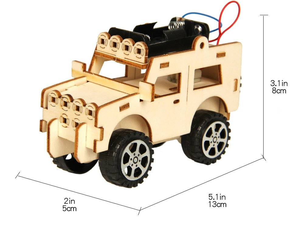 DIY Jeep for Children, STEM Educational Project for Children, Home, Play and Classroom Learning