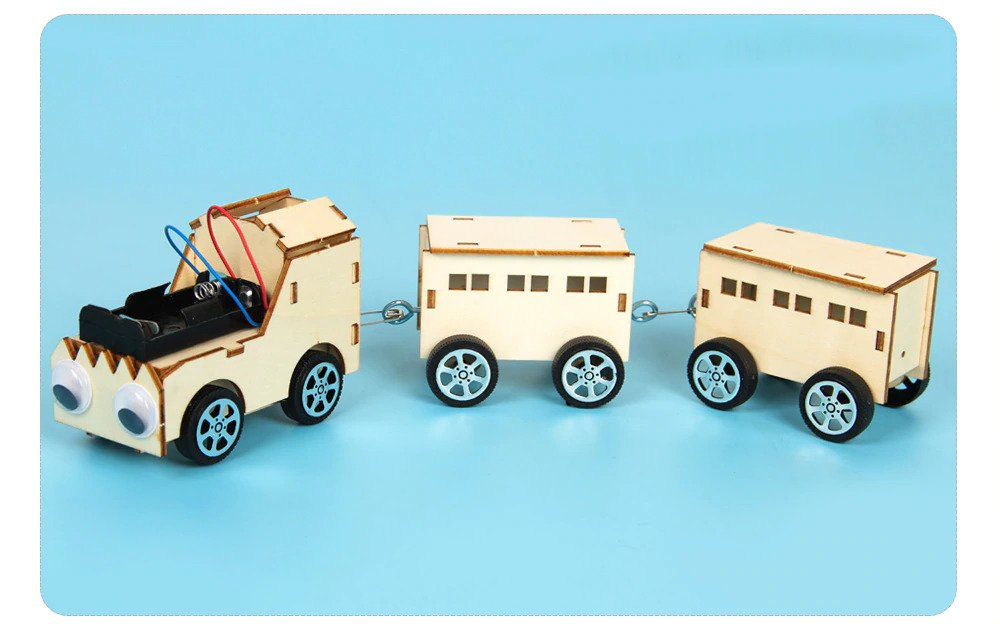 Train DIY Kit, STEM Science, Technology, Engineering and Mathematics Toy, Educational Project