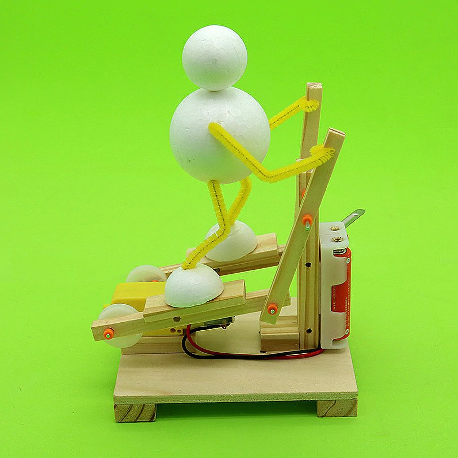 DIY Science Treadmill Toy Model for Kids 10 and above, STEM Electronic Project with Self-assembly