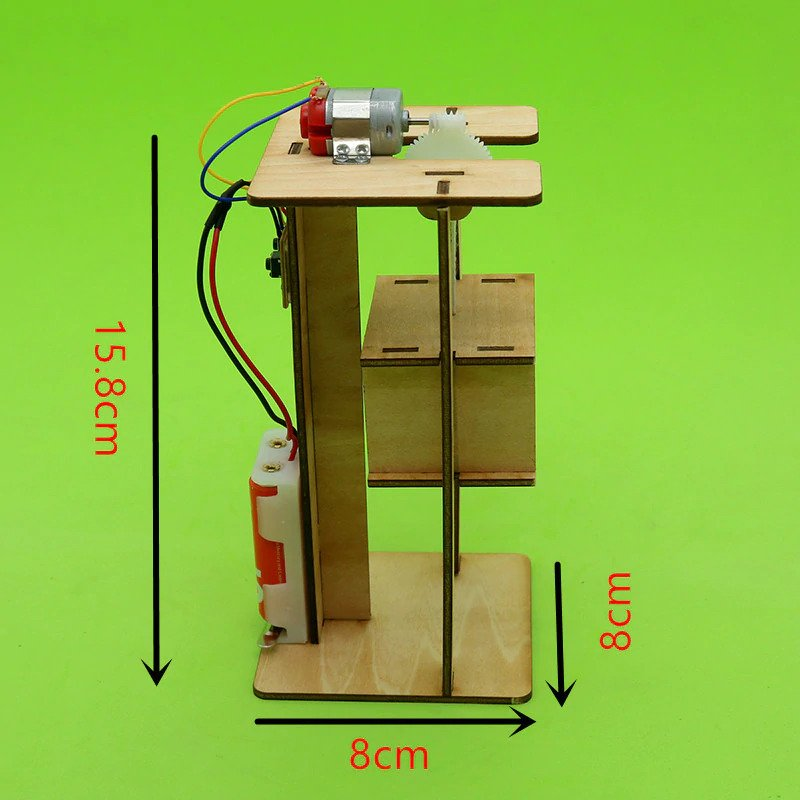 DIY Electric Elevator Model Toy for Kids; STEM Learning Projects for Children Based on Science