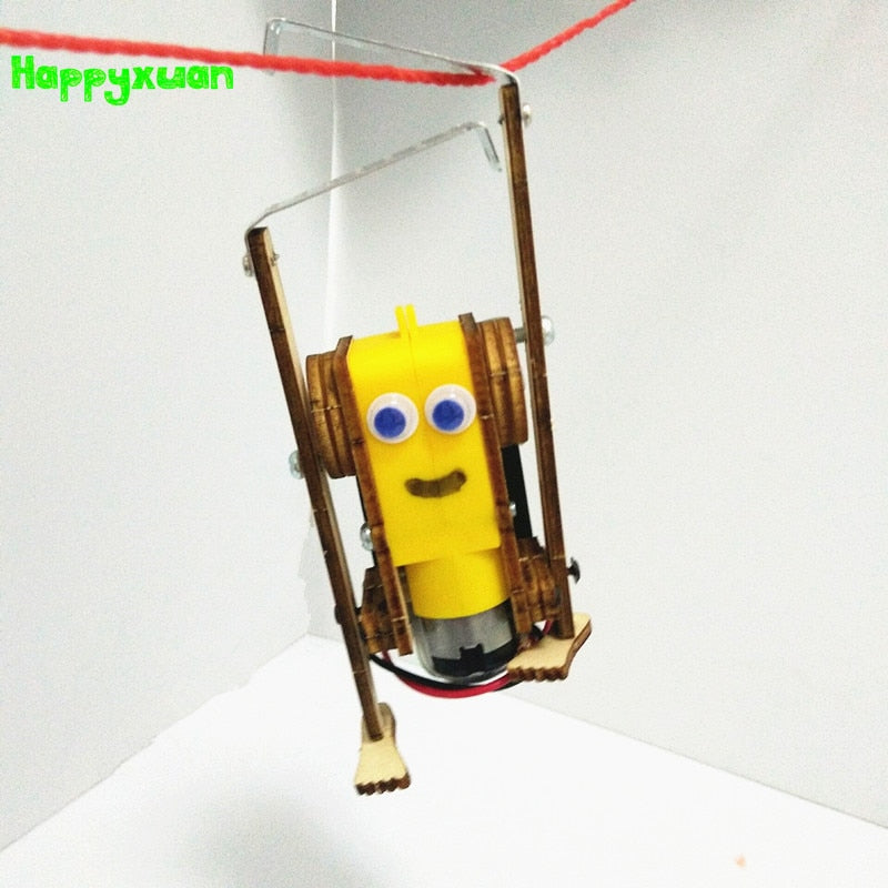 DIY Electric Robot Toy for Kids, STEM Science Educational Project for Kids. Group activity for kids