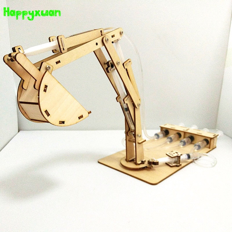 DIY Construction Toy for STEM Learning, Physics Educational Toy hydraulics based, Excavator/Lift Toy
