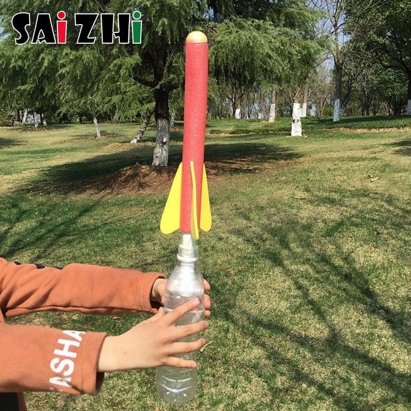 DIY Science Toy Rocket Launcher for Kids, STEM Physics Project for Pre-teens, Model Educational Toy for Outdoors
