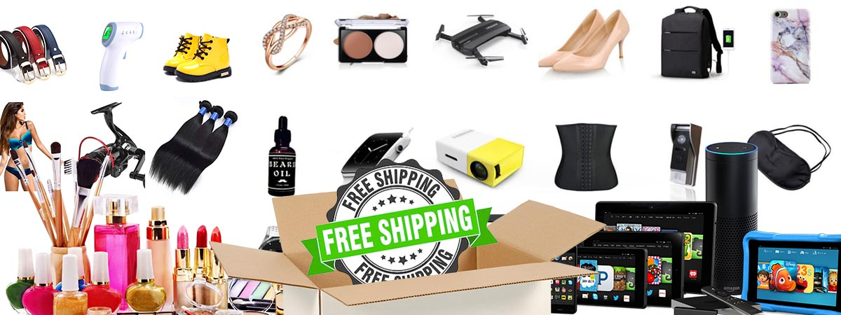 This is an overall picture of various items available on Order It All. Electronics, home and garden, beauty, men's fashion, women's fashion, children's fashion, outdoors, free shipping, Pet accessories, music, cosmetics, hair, you name it