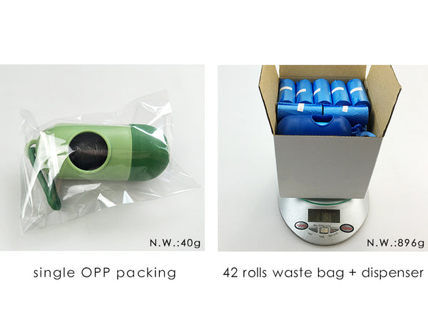 Dog Waste Bags + Dispenser (1 set = 12 / 42 Rolls) - Order It All