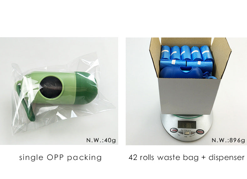 Dog Waste Bags + Dispenser (1 set = 12 / 42 Rolls)