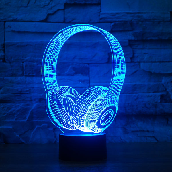 3D Wireless Headphone Lamp