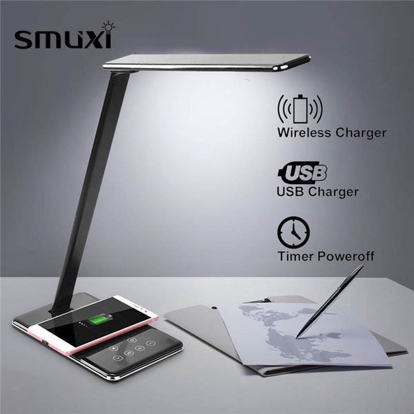 Multifunction Table/Desk LED Lamp With Wireless Charging Pad