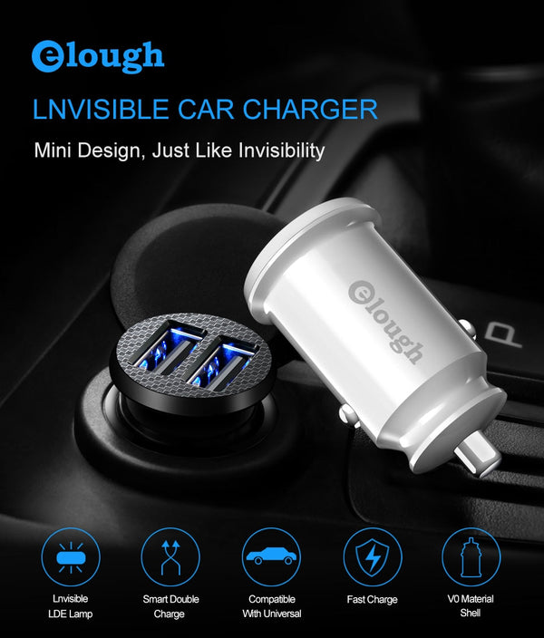 Invisible Dual USB Car Charger