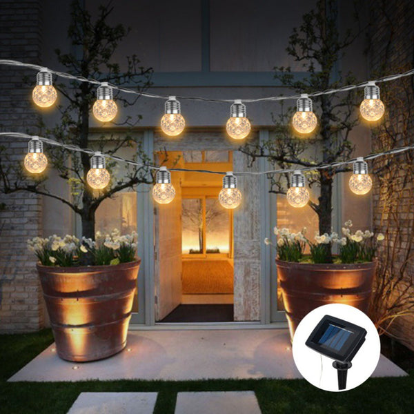 Romantic Outdoor Solar Powered 30 LED String Light Garden Patio Yard Landscape Lamp Party