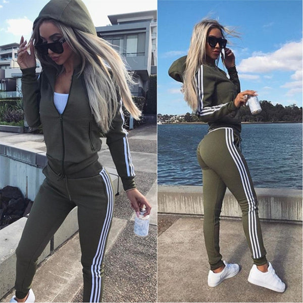 New Women's 2 Piece Tracksuit Set (FREE GIFT INCLUDED) - Order It All