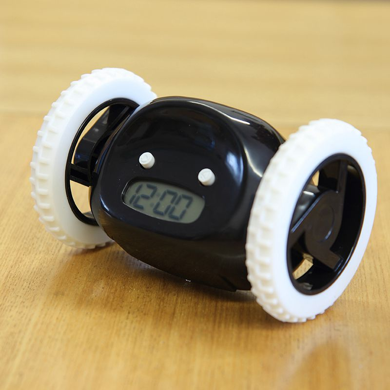 Running On Wheels Digital LCD Alarm Clock - CHASE THE ALARM!!! - Order It All