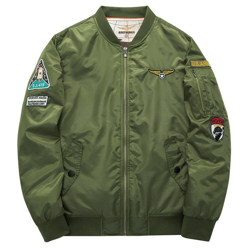 High Quality Army Green Military Aviator/Motorcycle Jacket - Order It All