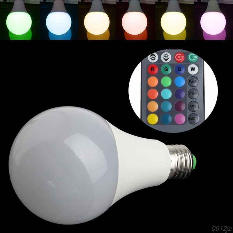 Remote Control Multi Color Changing Light Bulb