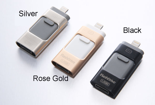 OTG Rotate USB Flash Drive (U Disk for IPhone/IPad/IPod) 128GB