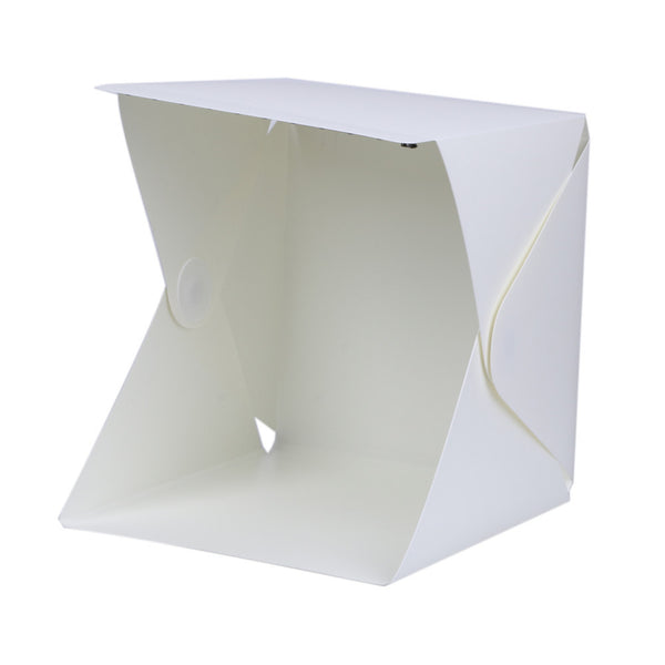 Mini Folding Studio (Soft Lightbox With LED Light, Black & White Photography Background)