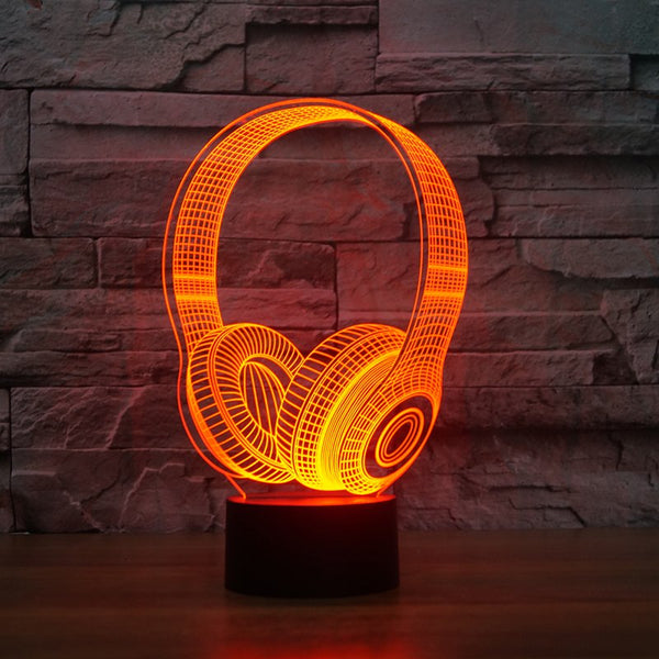 3D Wireless Headphone Lamp - Order It All