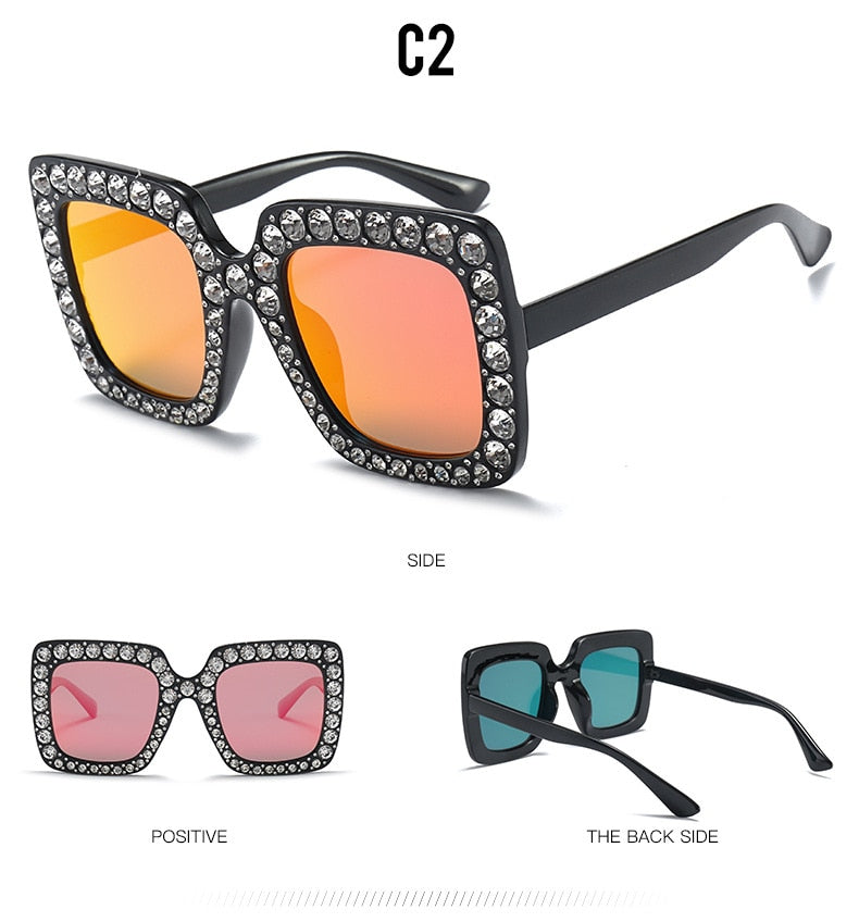 """Eye See Diamonds"" Designer Sunglasses - Order It All"