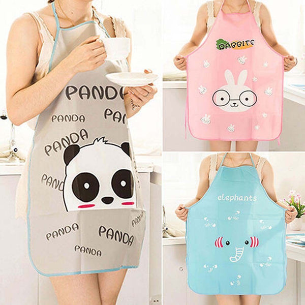 Women's Cute Cartoon Waterproof Cooking Apron - Order It All