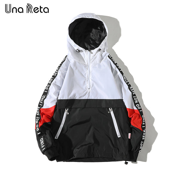 Men's Una Reta Hooded Jackets ( New Patchwork / Color Block Pullover ) - Order It All