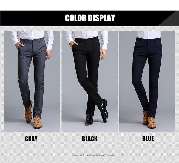 Men's High Quality Cotton Pants Straight Cut - Order It All