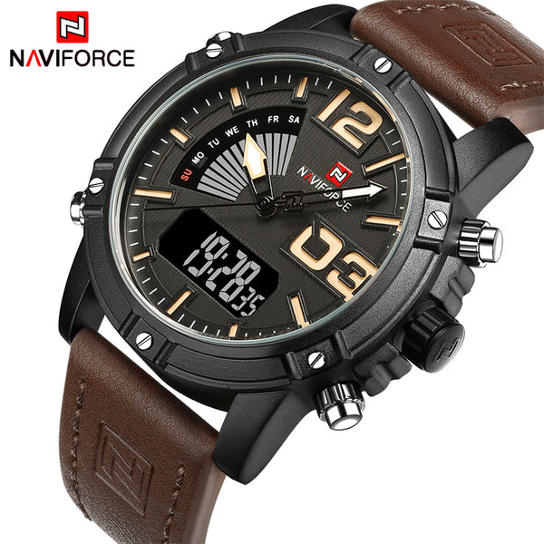 Men's NAVIFORCE Fashion Sports Watch ( Quartz, Analog, Date, Military, Waterproof ) - Order It All
